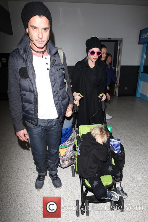 Gwen Stefani, Gavin Rossdale and their children Kingston...