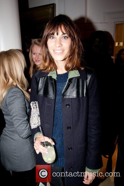 Alexa Chung Stella McCartney store Christmas Lighting. London,...