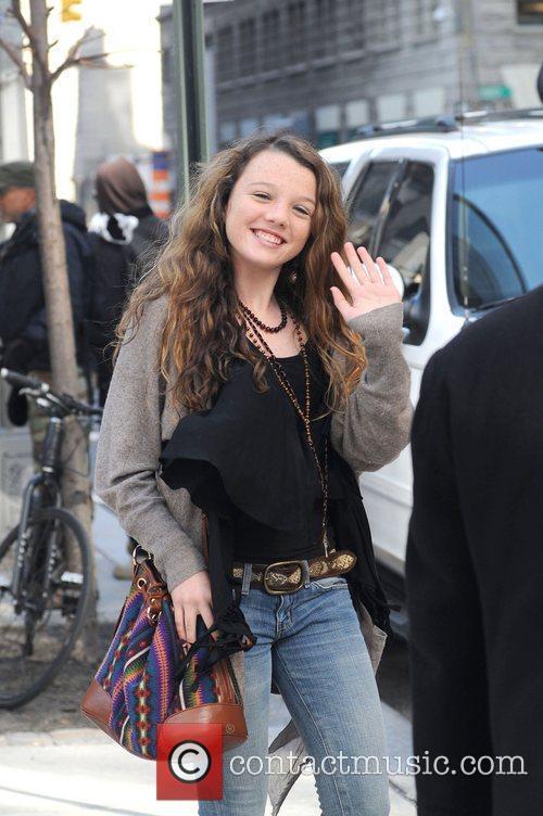 Stephania Owen leaving her Soho hotel in Manhattan....