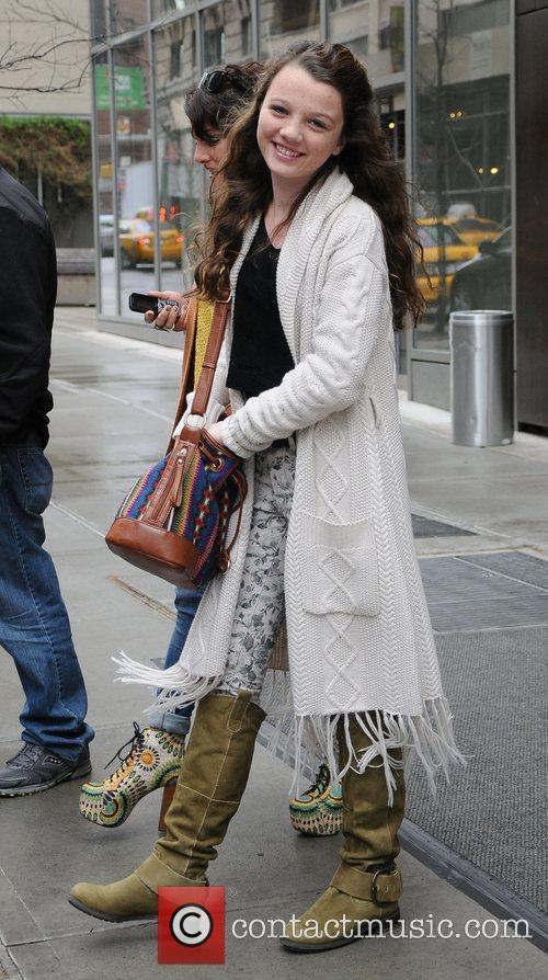 Stefania Owen leaves her Soho hotel in Manhattan.