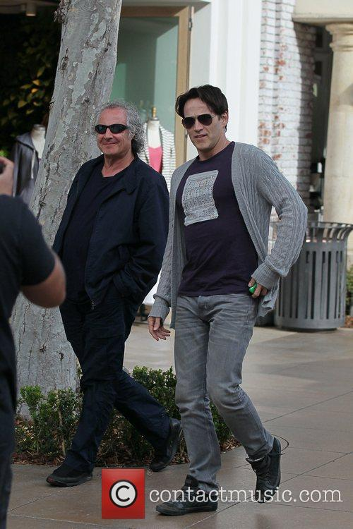 Walking around The Grove with his Father