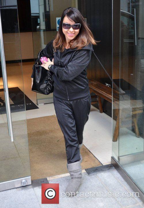 Lisa Scott-Lee Steps leaving The Morrisson Hotel...