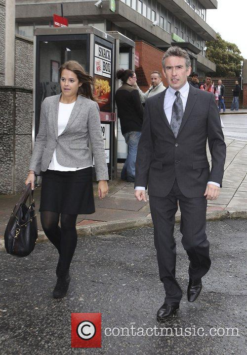 Steve Coogan arrives at Brighton Magistrates Court to...