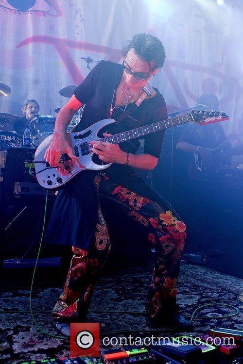 American guitarist, Steve Vai performing at Tradgarn.
