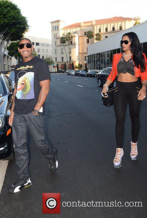 Stevie J, and Joseline arrive at Mr Chow...