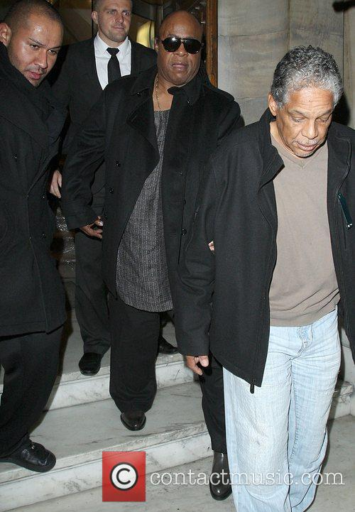 Stevie Wonder leaving Aura nightclub London, England