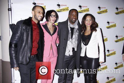 Swizz Beatz, Alicia Keys and Malik Yoba 2