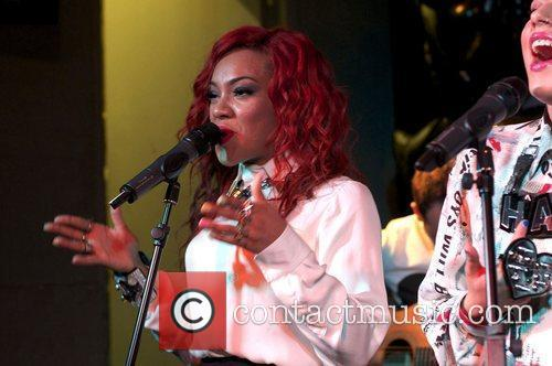 Karis Anderson of Stooshe at the 'Black Heart'...