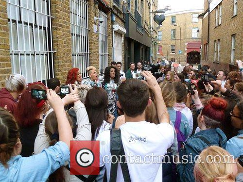 Stooshe at the 'Black Heart' release party at...