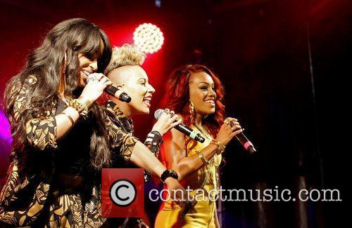 Stooshe performs live at Kempton Park Racecourse