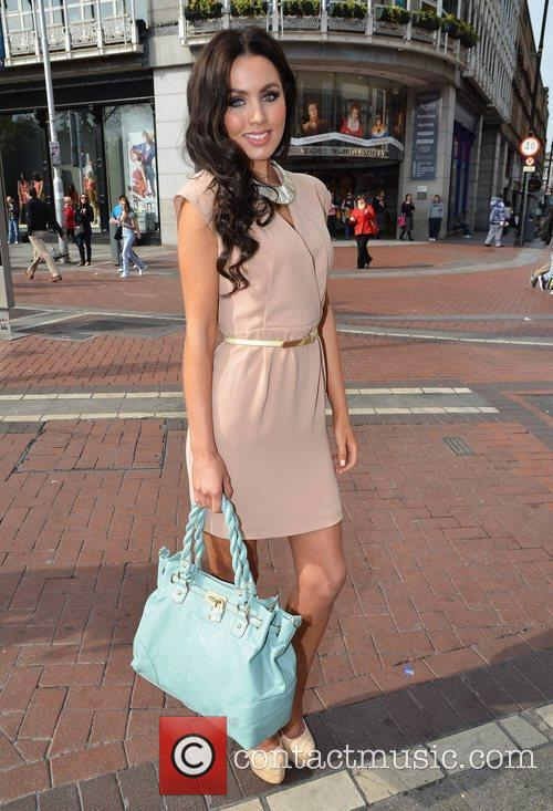 Model Sinead Noonan  Street fashion store Oasis...