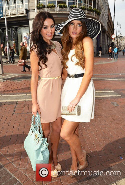 Models Sinead Noonan and Rosanna Purcell Street fashion...