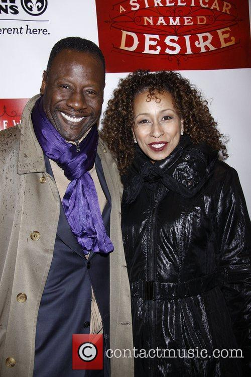 Gregory Generet and Tamara Tunie  Broadway opening...