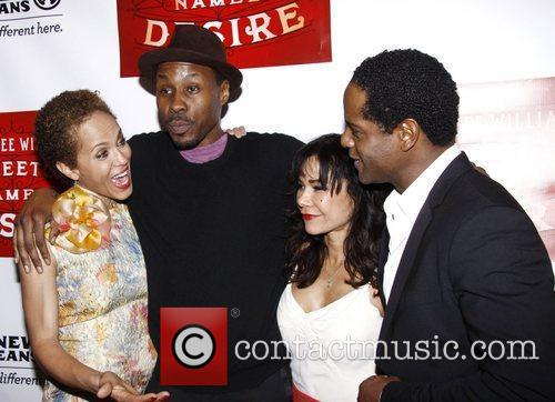 Nicole Ari Parker, Blair Underwood, Daphne Rubin-vega and Wood Harris 3