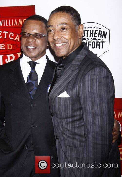 Stephen Byrd and Giancarlo Esposito Broadway opening night...