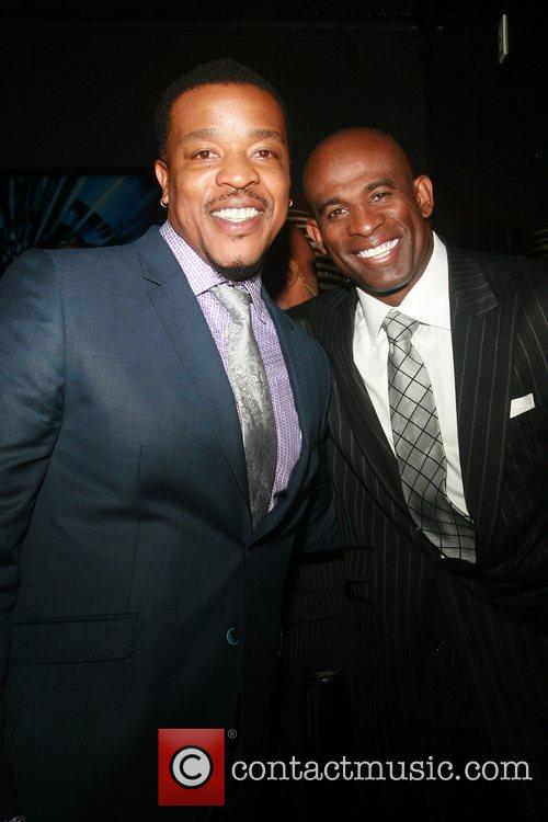 Actor Russell Hornsby and Former NFL Player Deion...
