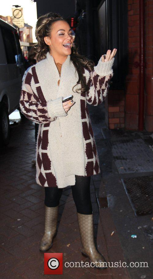 Chelsee Healey arrives at 'Strictly Come Dancing' at...