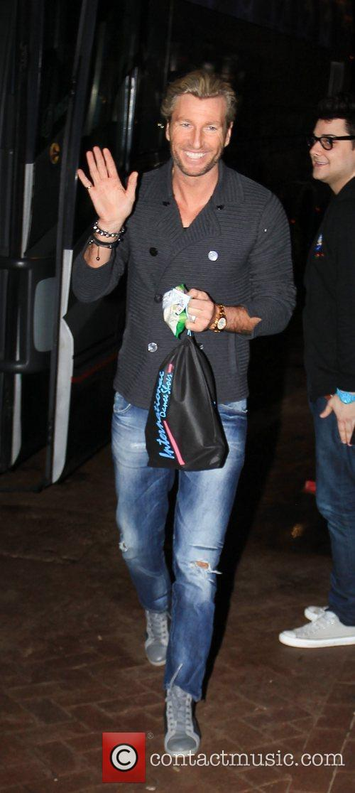 Robbie Savage arrives at 'Strictly Come Dancing' at...