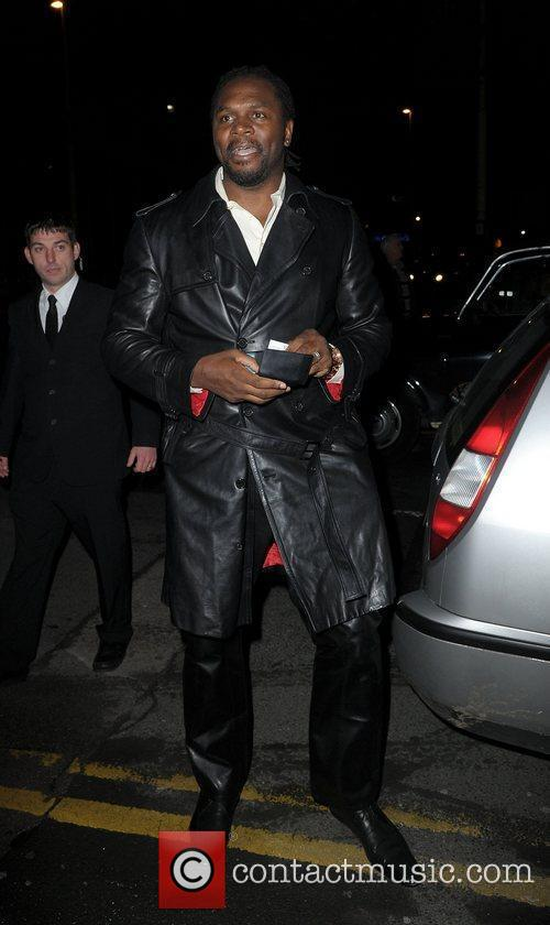 Audley Harrison,  at the Strictly Come Dancing...