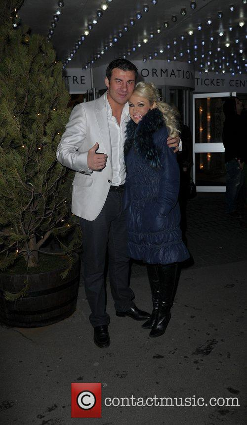 Kristina Rihanoff and Joe Calzaghe,  at the...