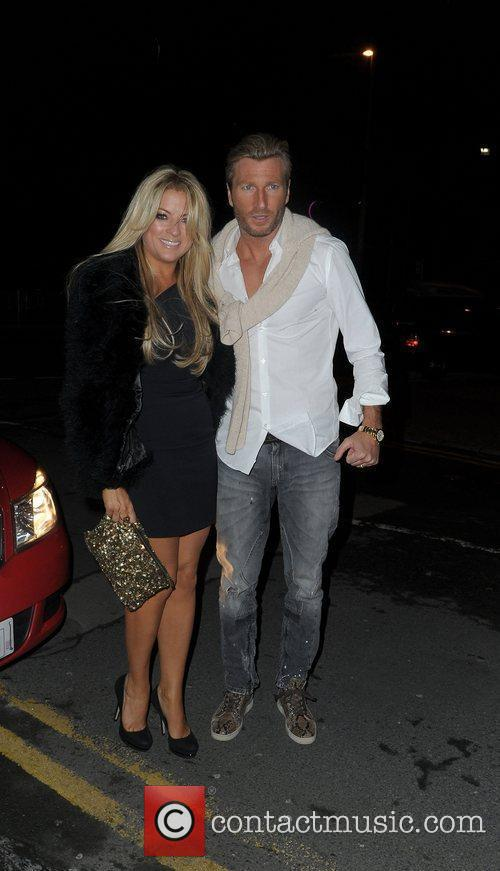 Robbie Savage and his wife Sarah Savage,...