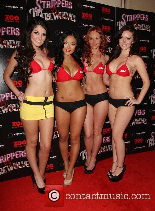 Zoo Girls 'Strippers vs Werewolves' premiere held at...
