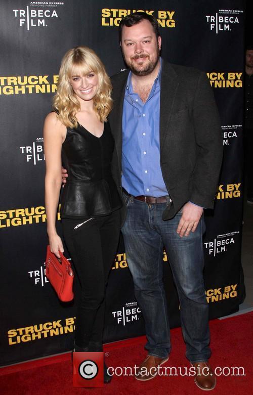 Beth Behrs and her boyfriend Michael Gladis Tribeca...