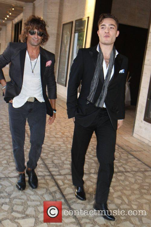 ed westwick and guest 2012 style awards 5905273