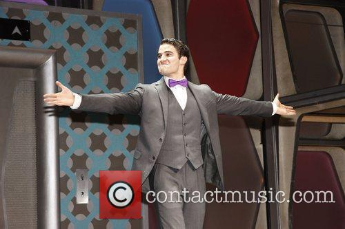 Darren Criss, Al Hirschfeld and Glee