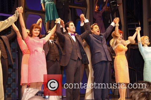 Darren Criss, Al Hirschfeld, Beau Bridges and Tammy Blanchard 1