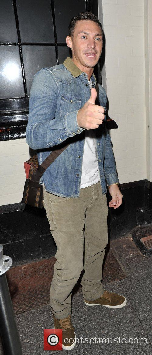 Tamer Hassan arrives to the Sugar Hut night...