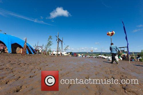 Atmosphere - revellers Sunrise Celebration Festival in Somerset...