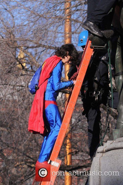a man dressed in a superman costume 5790022