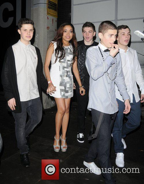 Dionne Bromfield celebrating her 16th birthday at the...