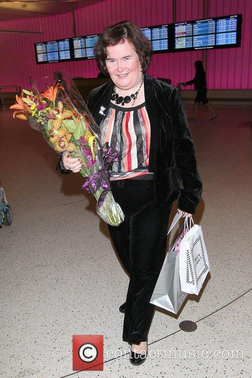 Susan Boyle, Los Angeles International Airport, British Airways Flight, London, Las Vegas