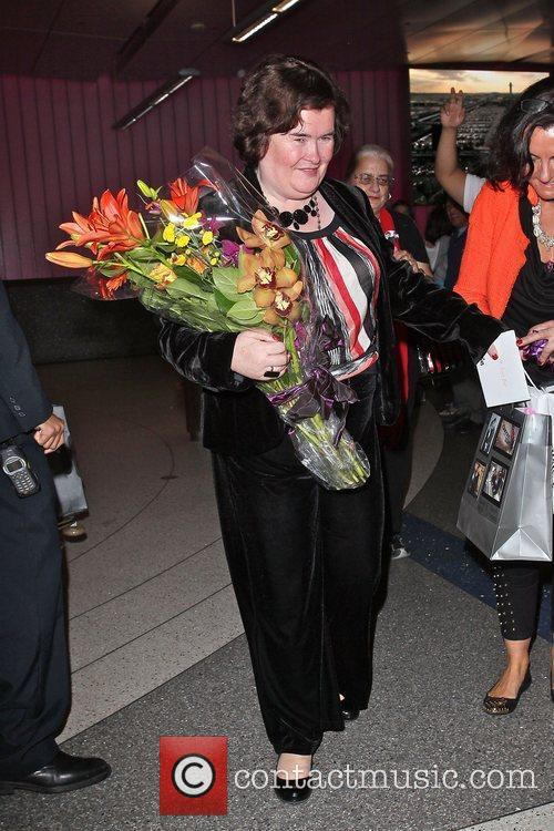 Susan Boyle, Los Angeles International Airport, British Airways Flight, London and Las Vegas 10