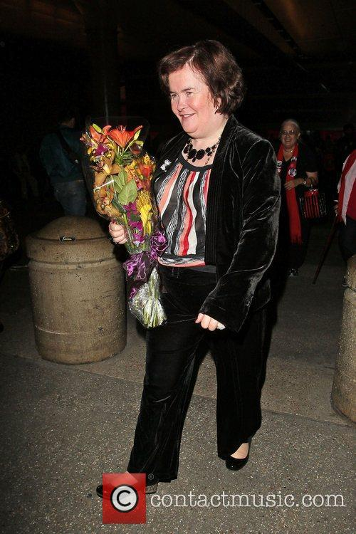 Susan Boyle, Los Angeles International Airport, British Airways Flight, London and Las Vegas 6