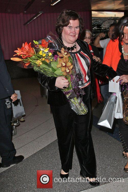 Susan Boyle, Los Angeles International Airport, British Airways Flight, London and Las Vegas 2