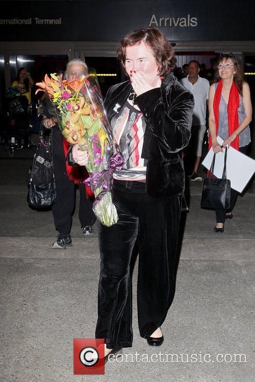 Susan Boyle, Los Angeles International Airport, British Airways Flight, London and Las Vegas 4