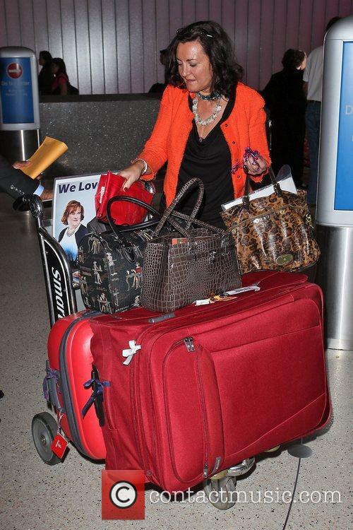 Susan Boyle's luggage as she arrives at LAX,...