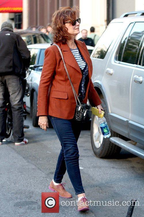 Susan Sarandon in good spirits as she strolls...