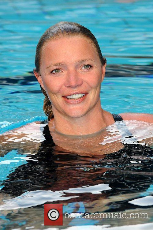 Jodie Kidd  MBE officially launch Swimathon 2012,...