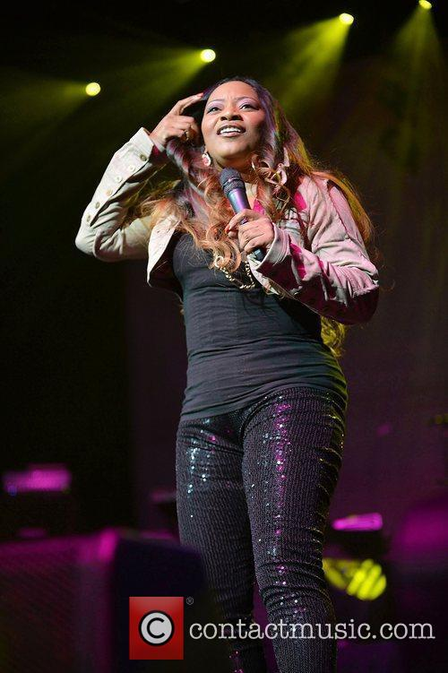 Leanne 'Lelee' Lyons of SWV performs at Bank...