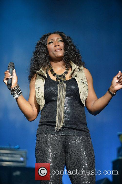 George of SWV performs at Bank United Center....