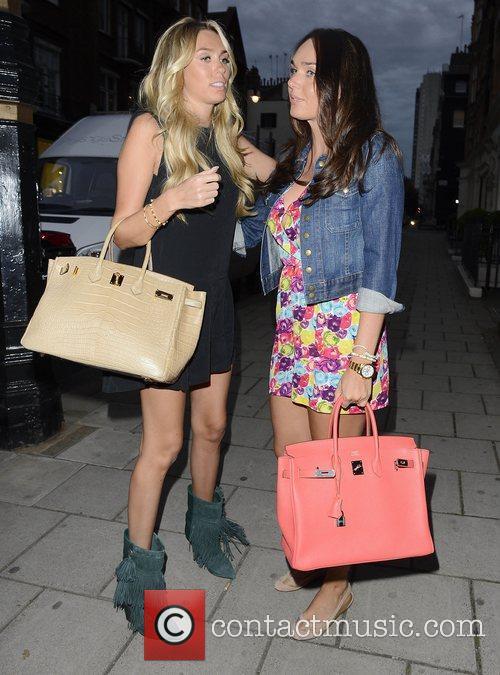 Petra Ecclestone and Tamara Ecclestone leaving Kai restaurant...