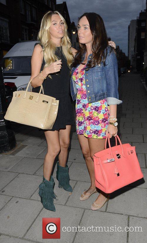 Petra Ecclestone and Tamara Ecclestone leaving Kai restaurant