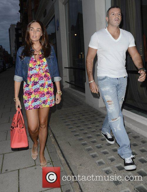Tamara Ecclestone and her boyfriend Omar Khyami leaving...