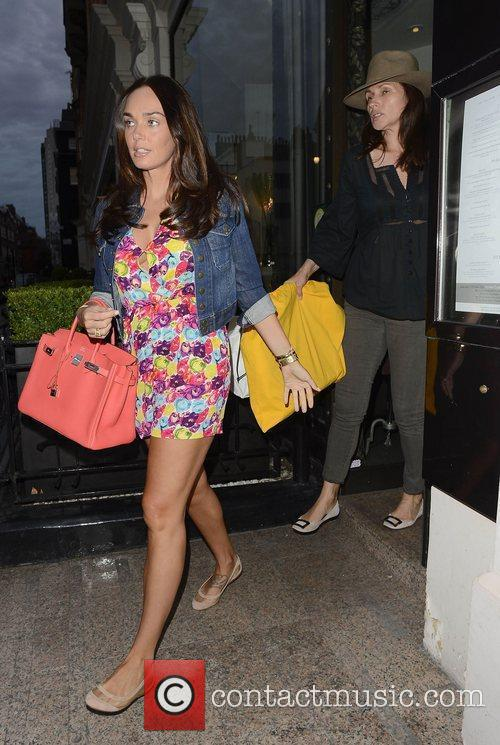 Tamara Ecclestone leaving Kai restaurant London, England