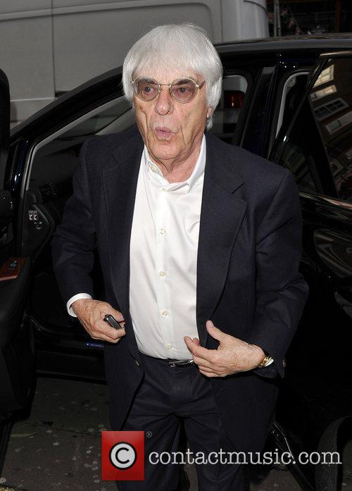 Going to dinner with his daughter Tamara Ecclestone...
