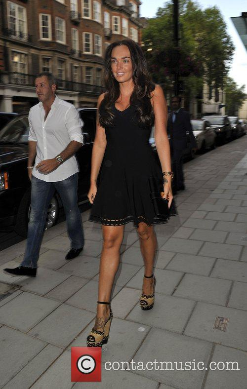 Tamara Ecclestone Going to dinner with her father...